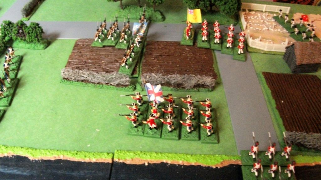 british attack right flank